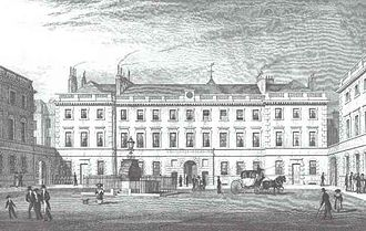 St Bartholomew's Hospital - Barts' courtyard in the early 19th century
