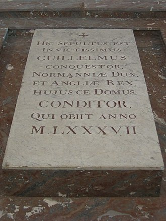 Thomas of Bayeux - The tomb of William the Conqueror in Caen, for which Thomas wrote an epitaph