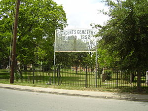 Second Ward, Houston - St. Vincent's Cemetery