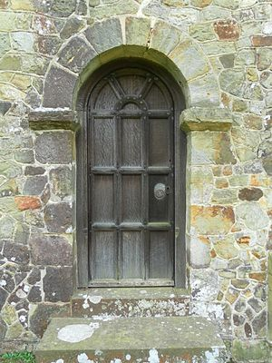 St Giles' Church, Horsted Keynes - This Saxon doorway was reset in the north aisle, built in 1885.