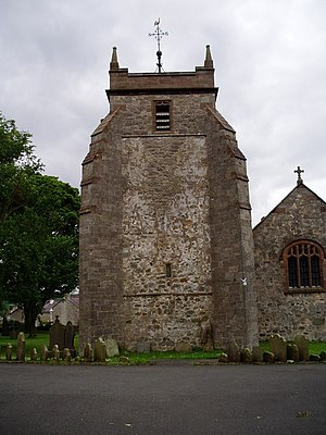 St Mary's Church, Cilcain - Tower and west end of St Mary's Church, Cilcain