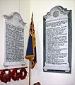 St Mary the Virgin, Great Baddow, Essex - Memorial WWI and WWII - geograph.org.uk - 1497626.jpg