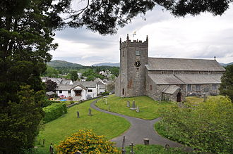 Hawkshead - St Michael and All Angels' was founded in the 12th century, it is a fine example of an English rural parish church.