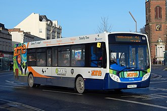 Stagecoach North East - Alexander Enviro 300 in Stockton in January 2015.
