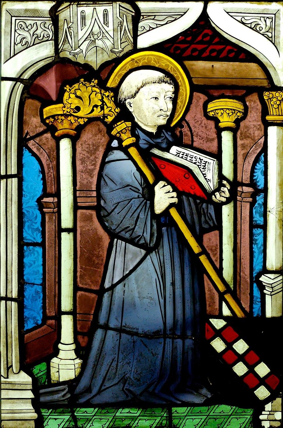 Stained glass St Bernard MNMA Cl3273