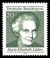 briefmarke 1969 aus dem block 50 jahre frauenwahlrecht in deutschland - Christine Luders Lebenslauf