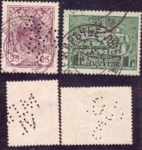 Stamps of the Russian Empire perfin cancelled.png
