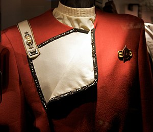 Star Trek uniforms - Uniform exemplar from The Wrath of Khan on display at Star Trek: The Experience