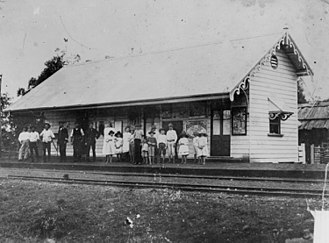 Laura, Queensland - Laura Railway Station in 1896