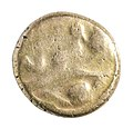 Stater van de Bellovaci in goud, 55 tot 50 VC, vindplaats- Vechmaal, Bornebeemden, collectie Gallo-Romeins Museum Tongeren, GRM 9248, 008.jpg