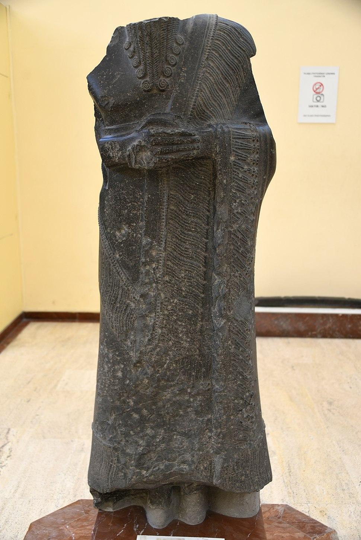 Statue of governor of Tura Dagan, Mari. Originally from Mari, found in Babylon. 1894-1594 BCE. Ancient Orient Museum, Istanbul
