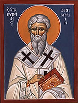Canonization - Icon of St. Cyprian of Carthage, who urged diligence in the process of canonization