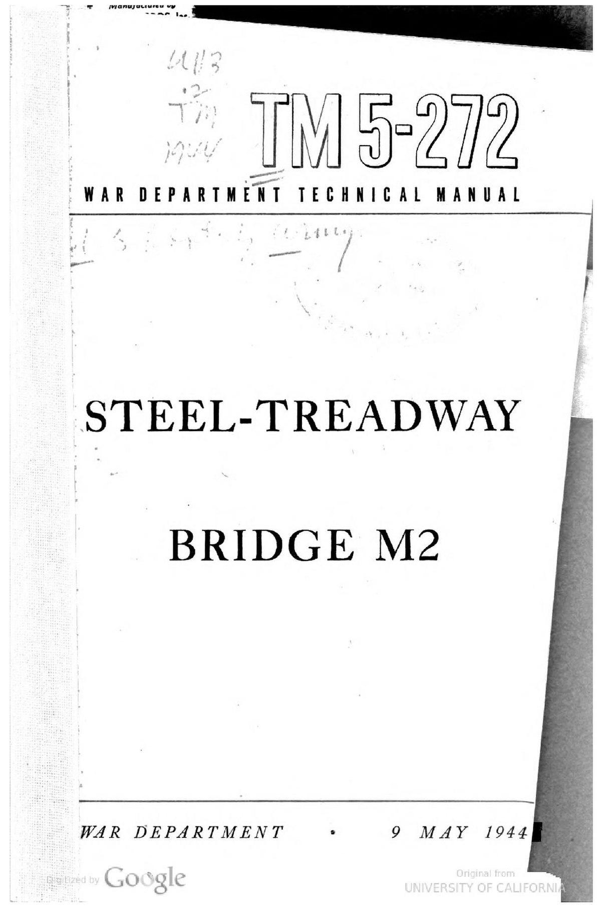 File:Steel Treadway M2 Bridge Manual 1944 TM5-272.pdf - Wikipedia