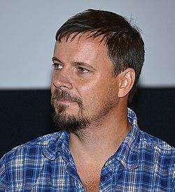 Stefan Roos under præsentationen af Tyvenes jul - Troldkarlens datter i Filmhuset i Stockholm den 18 august 2014.