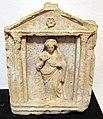Stele punica votiva di stile greco con dea tanit, 300-100 ac. ca., forse dal sulcis.JPG