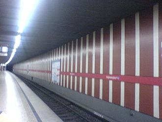 Stiglmaierplatz (Munich U-Bahn) - Stiglmaierplatz platform.