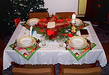 Wigilia table setting around Kashubia region & Wigilia - Wikipedia