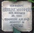 Stolperstein Argentinische Allee 4 (Zehld) Karoline Mannheim.jpg