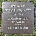 Stolperstein für Hedwig Löwenstein