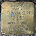 Stolperstein Johanna Kahn (Rechtenbacher Straße 2 Pohl-Göns).jpg
