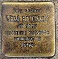 Stolperstein Ostender Str 2 (Wedd) Vera Schwarz.jpg
