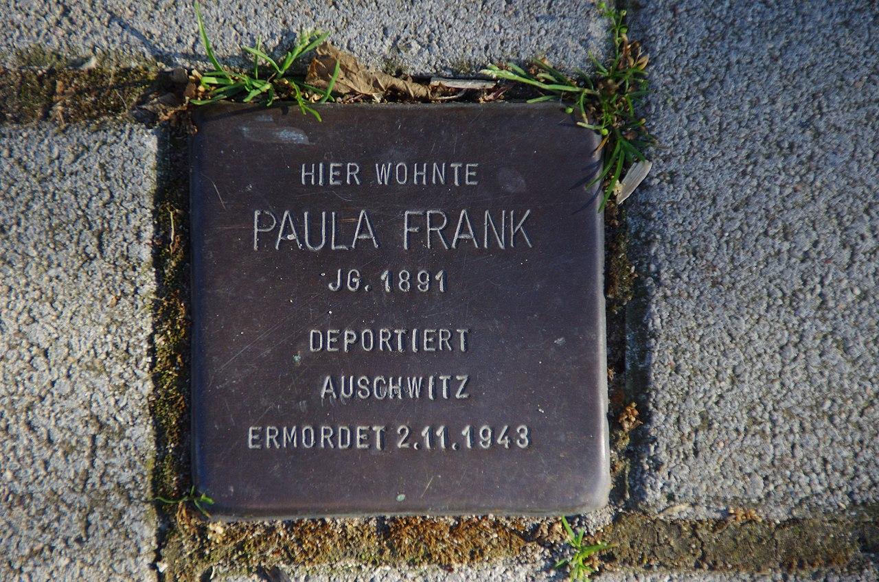 Stolperstein Paula Frank Pattensen.jpg