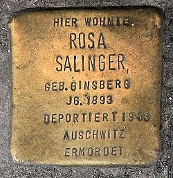 Photo of Rosa Salinger brass plaque