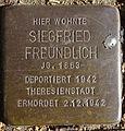 Stolperstein Sierichstraße 20 (Siegfried Freundlich) in Hamburg-Winterhude.JPG