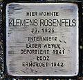 Stolperstein für Klemens Rosenfels.JPG
