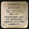 Stolpersteine Amsterdam, Abraham Bilderbeek (Nieuwe Hoogstraat 28).jpg