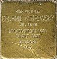 Stolpersteine Lindenthal Emil Meirowsky.jpg