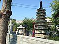 Stone tower in Yoneichimaru Jizoson Hall.JPG