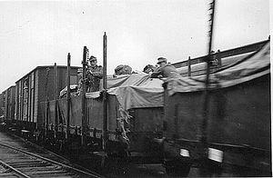 Transit of German troops through Finland and Sweden - Storlien, Sweden, 1940, German transit traffic, alpine riflemen