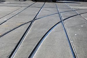 Cycling in Toronto - Bicycle tires can easily get stuck in streetcar rails