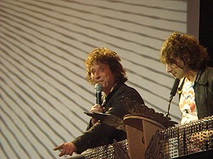 Stuart Cable - Cable with Alex Zane co-presenting the 2008 XFM Awards