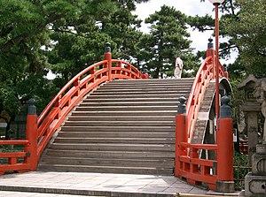 Sumiyoshi taisha - The Taiko bashi at Sumiyoshi taisha