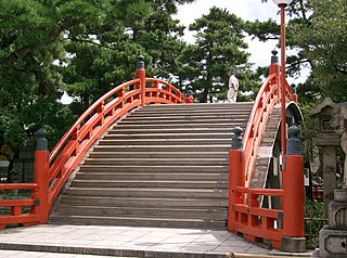 Shinto shrine in Osaka Prefecture, Japan