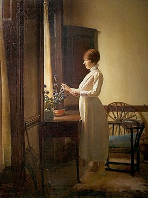 Ernest Townsend - Image: Summer Morning Interior by Ernest Topwnsend 1917