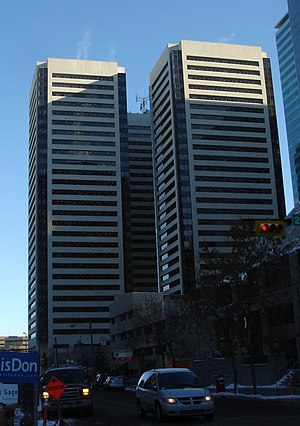 Sun Life Plaza (Calgary) - The three towers of Sun Life Plaza