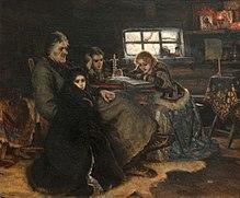 Menshikov and his family in beryozov by vasily surikov