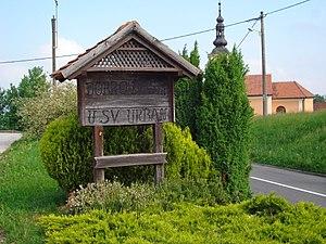 Štrigova - Image: Sveti Urban (Međimurje) znak dobrodošlice