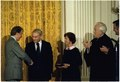 Swearing-in ceremony for William Miller, Chairman of the Federal Reserve System. - NARA - 178291.tif