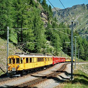 Rhaetian Railway ABe 4/4 I - ABe 4/4 I 30 and 34 below Alp Grüm