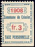 Switzerland Crissier 1908 revenue 3Fr - 4.jpg