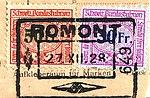 Switzerland railway stamps used ROMONT 27.XII.28.jpg