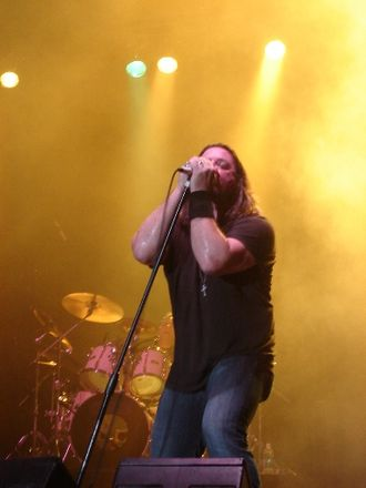 Symphony X - Lead vocalist Russell Allen performing at a concert in San Juan, Puerto Rico on May 27, 2007.