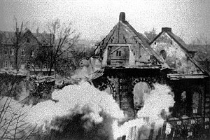 Julius Streicher - A ruined synagogue in Eisenach after Kristallnacht