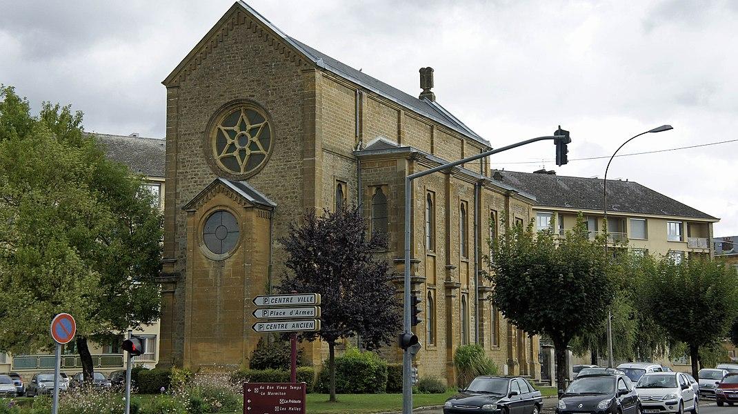 Vue de la Synagogue à Sedan.