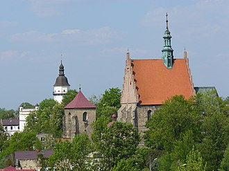 Szydłowiec - Church and the iconic Town Hall