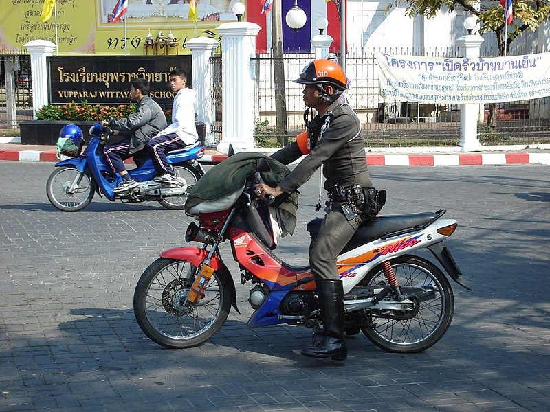 Image:TH police with (not police) motorcycle.jpg